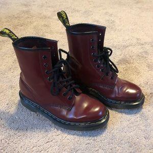 Cherry Red Dr. Marten's Combat Boots